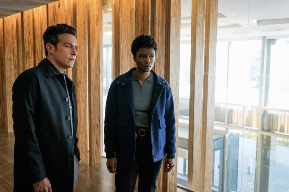 """FBI Season 3 Episode 13 """"Short Squeeze"""" - When the CEO of a major brokerage firm is shot and killed while surrounded by protesters, the team looks into who had the most to lose from his company's perceived manipulations. Also, Scola's previous Wall Street career and the reasons he left come to light as the financial details of the case begin to unfold, on FBI, Tuesday, May 11 (9:00-10:00 PM, ET/PT) on the CBS Television Network. Pictured (L-R) John Boyd as Special Agent Stuart Scola and  Katherine Renee Turner as Special Agent Tiffany Wallace Photo: Michael Parmelee/ ©2021 CBS Broadcasting, Inc. All Rights Reserved."""
