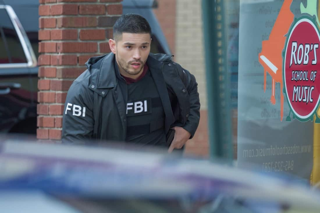 """FBI MOST WANTED Season 2 Episode 13 """"Toxic"""" - The team tracks two brothers set on getting revenge against members of the company guilty of the environmental destruction of their town. Also, Sarah meets the rest of the LaCroix family - including Jess' sister, Louise (Jules Willcox), on FBI: MOST WANTED, Tuesday, May 11 (10:00-11:00 PM, ET/PT) on the CBS Television Network.   Pictured Miguel Gomez as Special Agent Ivan Ortiz Photo: Mark Schäfer/ ©2021 CBS Broadcasting Inc. All Rights Reserved."""