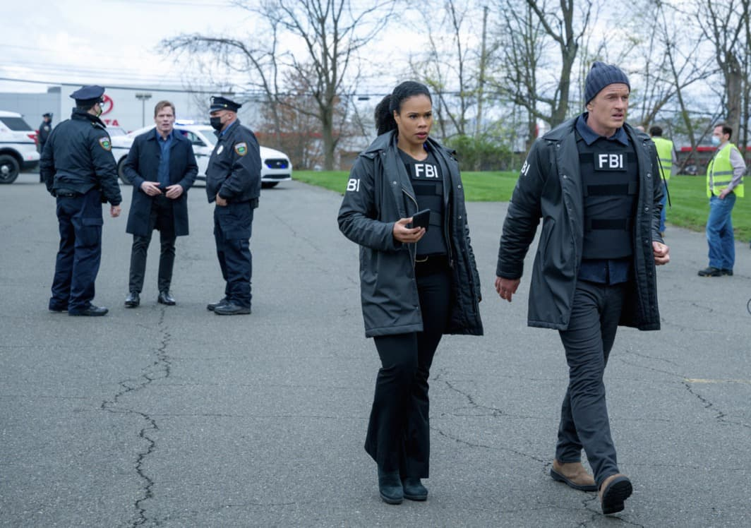 """FBI MOST WANTED Season 2 Episode 13 """"Toxic"""" - The team tracks two brothers set on getting revenge against members of the company guilty of the environmental destruction of their town. Also, Sarah meets the rest of the LaCroix family - including Jess' sister, Louise (Jules Willcox), on FBI: MOST WANTED, Tuesday, May 11 (10:00-11:00 PM, ET/PT) on the CBS Television Network.   Pictured (L-R) Roxy Sternberg as Special Agent Sheryll Barnes and Julian McMahon as Supervisory Special Agent Jess LaCroix Photo: Mark Schäfer/ ©2021 CBS Broadcasting Inc. All Rights Reserved."""
