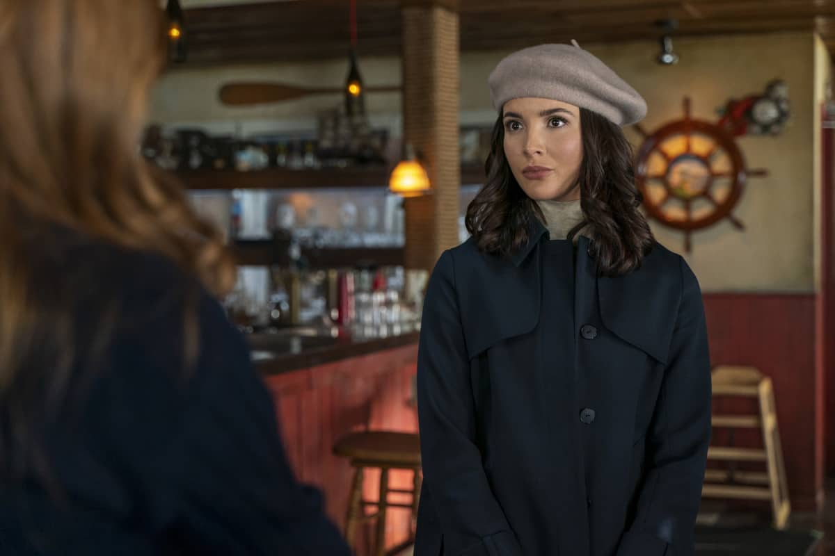 """NANCY DREW Season 2 Episode 15 -- """"The Celestial Visitor"""" -- Image Number: NCD215b_0362r.jpg -- Pictured: Maddison Jaizani as Bess -- Photo: Colin Bentley/The CW -- © 2021 The CW Network, LLC. All Rights Reserved."""