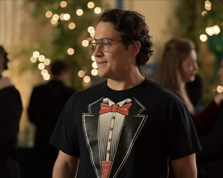 """THE GOLDBERGS Season 8 Episode 21- """"Alligator Schwartz"""" – Erica fears that Geoff has moved on from their breakup and started dating someone else. Meanwhile, Adam decides to find Dave Kim a date to prom, once he remembers his pact with Dave that they won't go to prom if they both don't have dates, on a new episode of """"The Goldbergs,"""" WEDNESDAY, MAY 12 (8:00-8:30 p.m. EDT), on ABC. (ABC/Temma Hankin) SEAN MARQUETTE"""