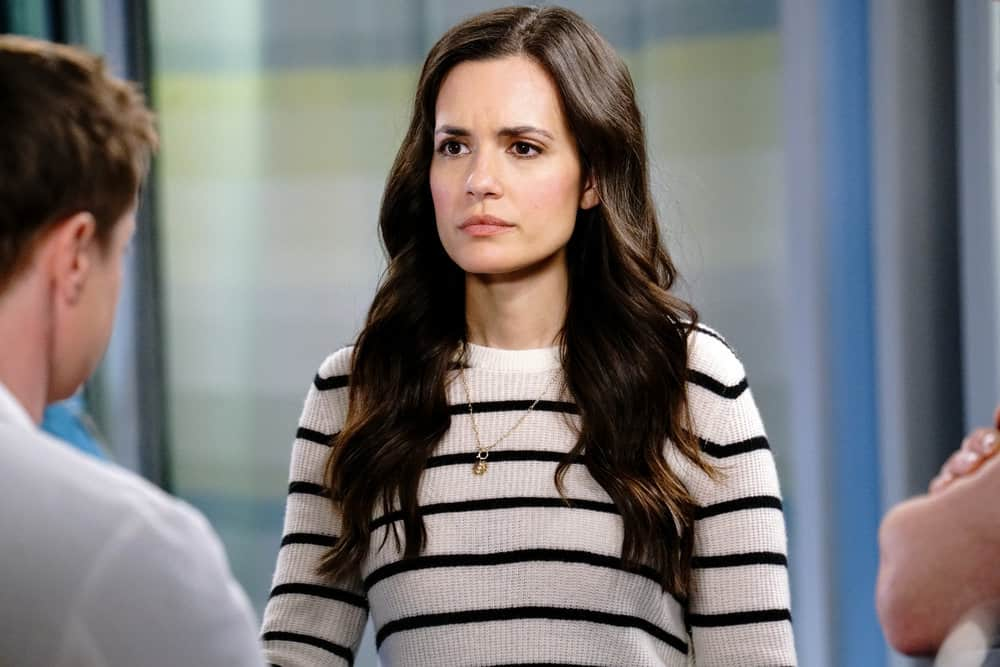 """CHICAGO MED Season 6 Episode 14 -- """"A Red Pill, A Blue Pill"""" Episode 614 -- Pictured: Torrey DeVitto as Natalie Manning -- (Photo by: Elizabeth Sisson/NBC)"""