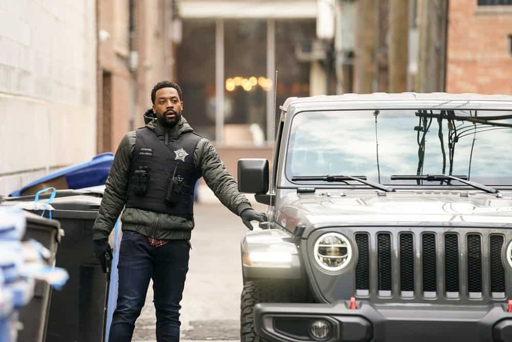 """CHICAGO PD Season 8 Episode 14 -- """"Safe"""" Episode 814 -- Pictured: LaRoyce Hawkins as Kevin Atwater -- (Photo by: Lori Allen/NBC)"""