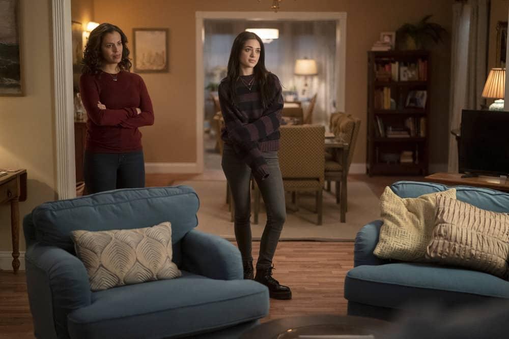 "MANIFEST Season 3 Episode 9 -- ""Bogey"" Episode 309 -- Pictured: (l-r) Athena Karkanis as Grace Stone, Luna Blaise as Olive Stone -- (Photo by: Peter Kramer/NBC)"