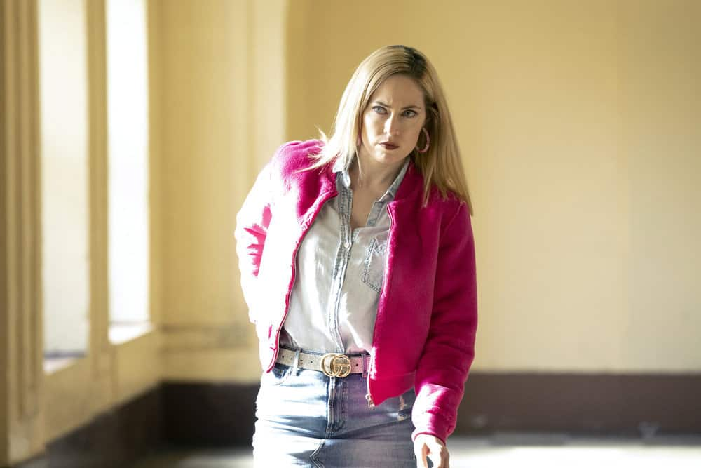 """LAW AND ORDER ORGANIZED CRIME Season 1 Episode 5 -- """"An Inferior Product"""" Episode 105 -- Pictured: Charlotte Sullivan as Gina Cappelletti -- (Photo by: Virginia Sherwood/NBC)"""