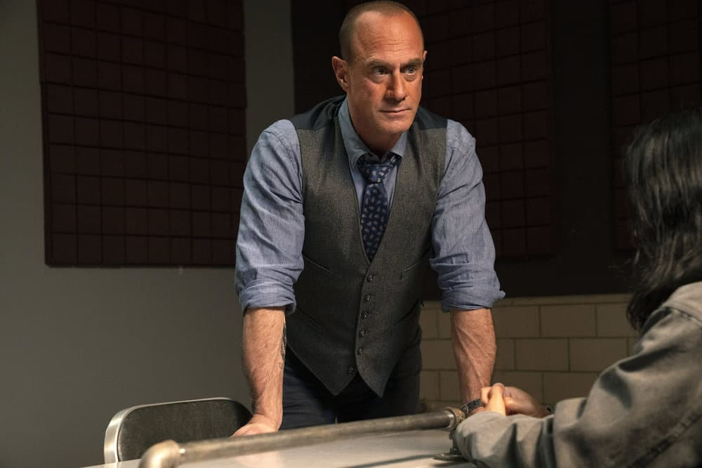 """LAW AND ORDER ORGANIZED CRIME Season 1 Episode 5 -- """"An Inferior Product"""" Episode 105 -- Pictured: Christopher Meloni as Detective Elliot Stabler -- (Photo by: Virginia Sherwood/NBC)"""