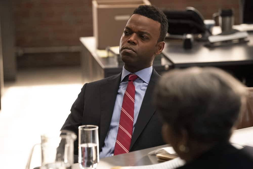 """LAW AND ORDER ORGANIZED CRIME Season 1 Episode 5 -- """"An Inferior Product"""" Episode 105 -- Pictured: Demore Barnes as Deputy Chief Christian Garland -- (Photo by: Virginia Sherwood/NBC)"""