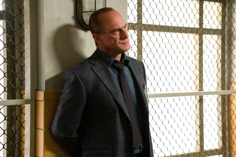 """LAW AND ORDER SVU Season 22 Episode 13 -- """"Trick-Rolled at the Moulin"""" Episode 22013 -- Pictured: Christopher Meloni as Detective Elliot Stabler -- (Photo by: Virginia Sherwood/NBC)"""