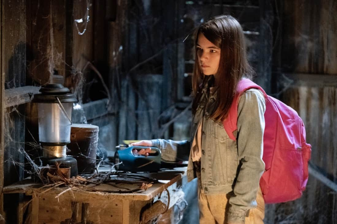 """YOUNG SHELDON Season 4 Episode 18 """"The Wild and Woolly World of Nonlinear Dynamics"""" – Pictured: Missy (Raegan Revord). Missy's first heartbreak triggers a series of events that lead the Cooper family to the brink, on the fourth season finale of YOUNG SHELDON, Thursday, May 13 (8:00-8:31 PM, ET/PT) on the CBS Television Network. Photo Credit: Michael Yarish/©2021 Warner Bros. Entertainment Inc. All Rights Reserved."""