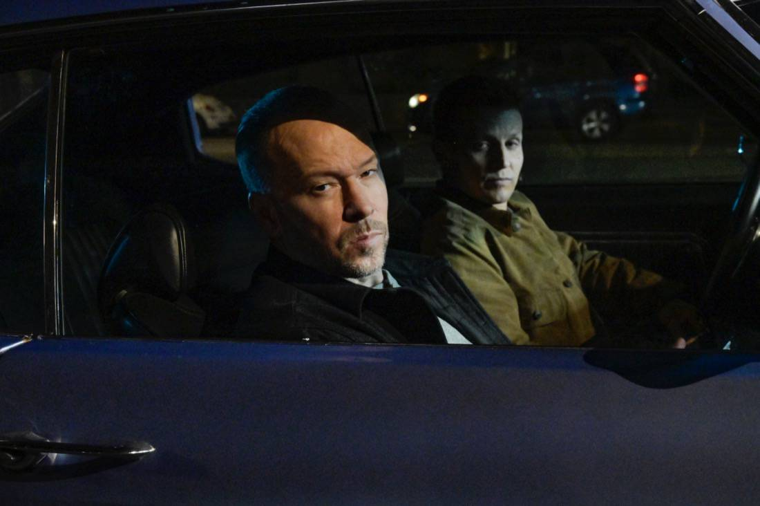 """BLUE BLOODS Season 11 Episode 16 """"Justifies The Means"""" – The Reagans band together to prevent Joe Hill from being killed in the line of duty like his father when they fear Joe's cover has been blown within the gunrunning outfit he's helping the ATF bring down, in the second part of the two-hour 11th season finale of BLUE BLOODS, Friday, May 14 (10:00-11:00 PM ET/PT) on the CBS Television Network. Gloria Reuben guest stars as Special Agent Rachel Weber. Pictured:  Donnie Wahlberg as Danny Reagan,  Will Estes as Jamie Reagan.   Photo: John Paul Filo/CBS ©2021  CBS Broadcasting Inc. All Rights Reserved."""