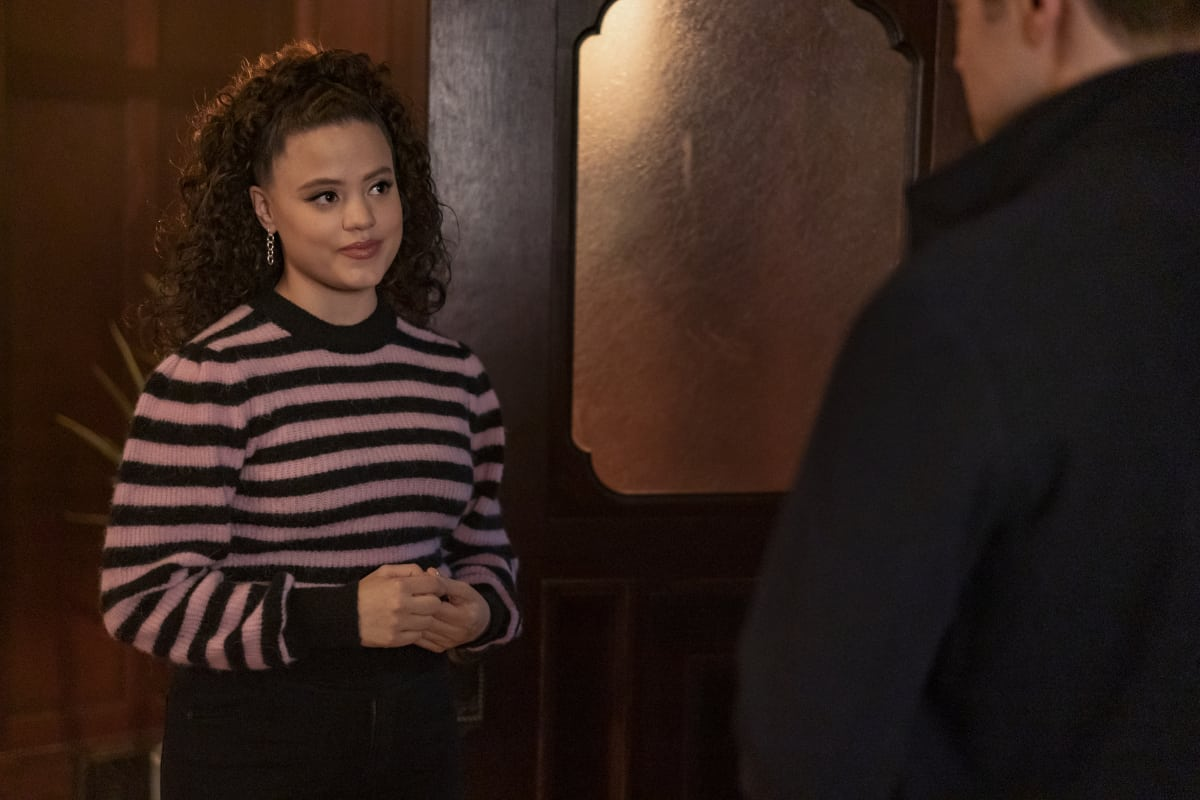 """CHARMED Season 3 Episode 12 -- """"Spectral Healing"""" -- Image Number: CMD312a_ 0174r -- Pictured: Sarah Jeffery as Maggie Vera -- Photo: Colin Bentley/The CW -- © 2021 The CW Network, LLC. All Rights Reserved."""