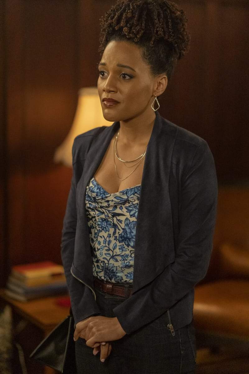 """CHARMED Season 3 Episode 12 -- """"Spectral Healing"""" -- Image Number: CMD312a_ 0068r -- Pictured: Bethany Brown as Ruby -- Photo: Colin Bentley/The CW -- © 2021 The CW Network, LLC. All Rights Reserved."""