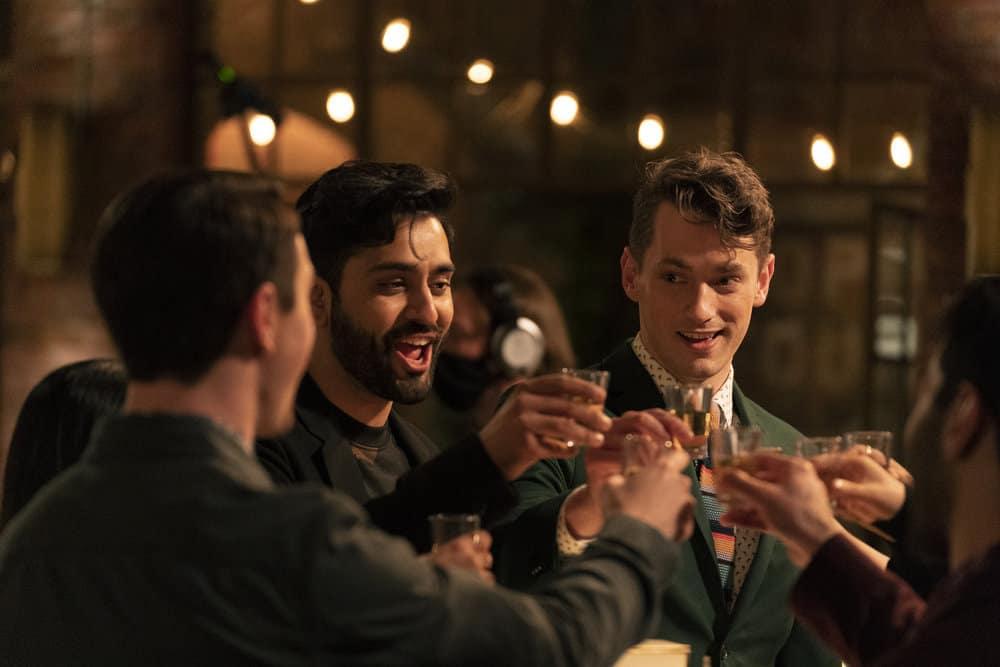 "ZOEY'S EXTRAORDINARY PLAYLIST Season 2 Episode 13 -- ""Zoey's Extraordinary Goodbye"" Episode 213 -- Pictured: (l-r) Kapil Talwalkar as Tobin, Michael Thomas Grant as Leif -- (Photo by: Michael Courtney/NBC/Lionsgate)"