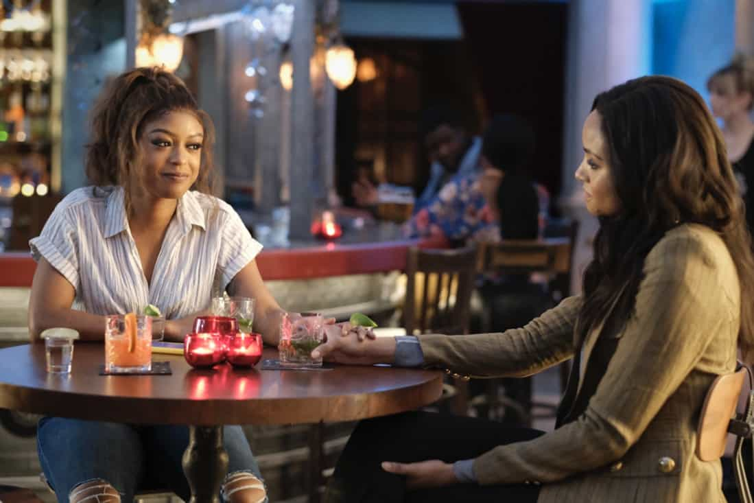 """BATWOMAN Season 2 Episode 14 -- """"And Justice For All"""" -- Image Number: BWN214a_0039r -- Pictured (L-R): Javicia Leslie as Ryan Wilder and Meagan Tandy as Sophie Moore -- Photo: Bettina Strauss/The CW -- © 2021 The CW Network, LLC. All Rights Reserved."""