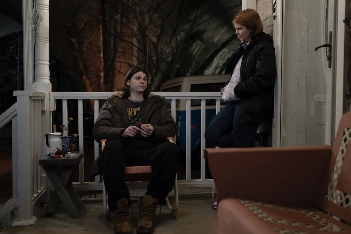 MARE OF EASTTOWN Season 1 Episode 5 Jack Mulhern, Mackenzie Lansing HBO Photograph by Michele K. Short/HBO
