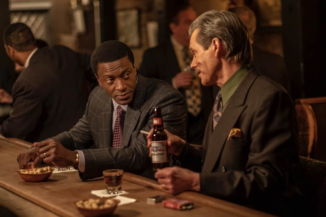 """CITY ON A HILL Season 2 Episode 8 (L-R): Aldis Hodge as Decourcy Ward and Kevin Bacon as Jackie Rohr in CITY ON A HILL, """"Pax Bostonia"""". Photo Credit: Francisco Roman/SHOWTIME."""