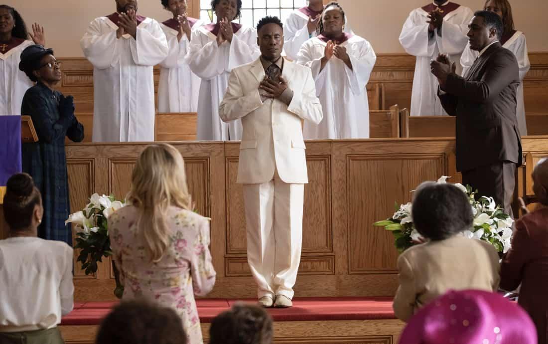 "POSE Season 3 Episode 4 -- ""Take Me To Church"" -- Season 3, Episode 4 (Airs May 16) Pictured: Janet Hubert as Latrice, Billy Porter as Pray Tell, Norm Lewis as Vernon. CR: Eric Liebowitz/FX"