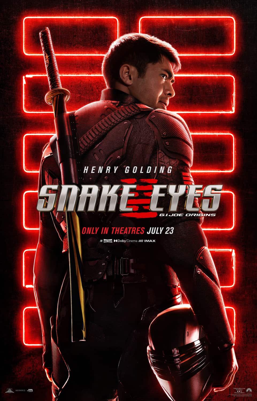 Snake Eyes GI Joe Origins Poster Henry Golding