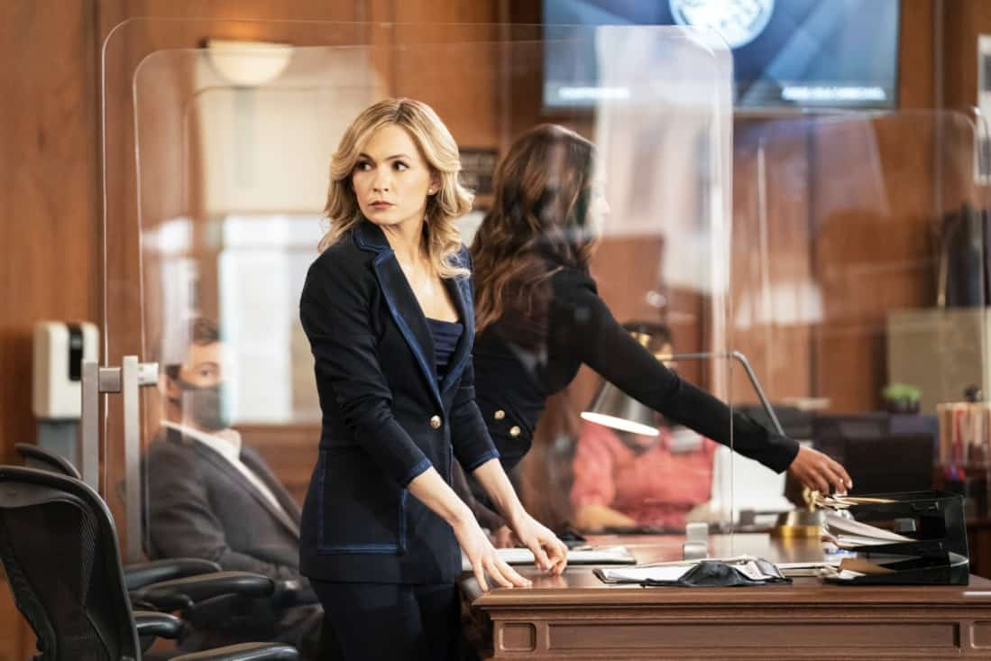 """ALL RISE Season 2 Episode 16 """"Leap of Faith"""" — Lola is tested like never before during a high-profile murder case when the women of Audubon and Associates—Rachel and Amy—combine forces with Public Defender Emily to represent the co-defendants. Also, David Sanders (Nicholas Christopher) helps Lola court donations and endorsements to prepare for her upcoming re-election campaign, on ALL RISE, Monday, May 17 (9:00- 10:00 PM, ET/PT), on the CBS Television Network. Pictured: Lindsay Gort as Amy Quinn Photo Credit: Erik Voake/©2021 Warner Bros. Entertainment Inc. All Rights Reserved."""