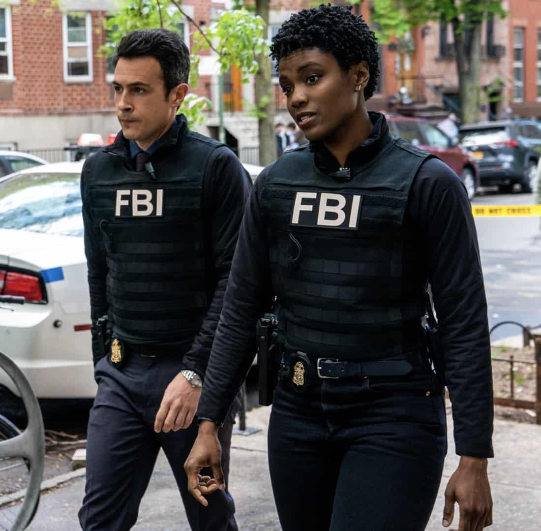 """FBI Season 3 Episode 14 """"Trigger Effect"""" - While investigating a mass casualty incident at a New York City restaurant, the team scrambles to determine if it was racially motivated and if there was more than one gunman. Also, Maggie begins to notice troubling behavior from her co-worker, Elise (Vedette Lim), on FBI, Tuesday, May 18 (9:00-10:00 PM, ET/PT) on the CBS Television Network.. Pictured (l-r) John Boyd as Special Agent Stuart Scola and Katherine Renee Turner as Special Agent Tiffany Wallace Photo: Michael Parmelee/ ©2021 CBS Broadcasting, Inc. All Rights Reserved."""