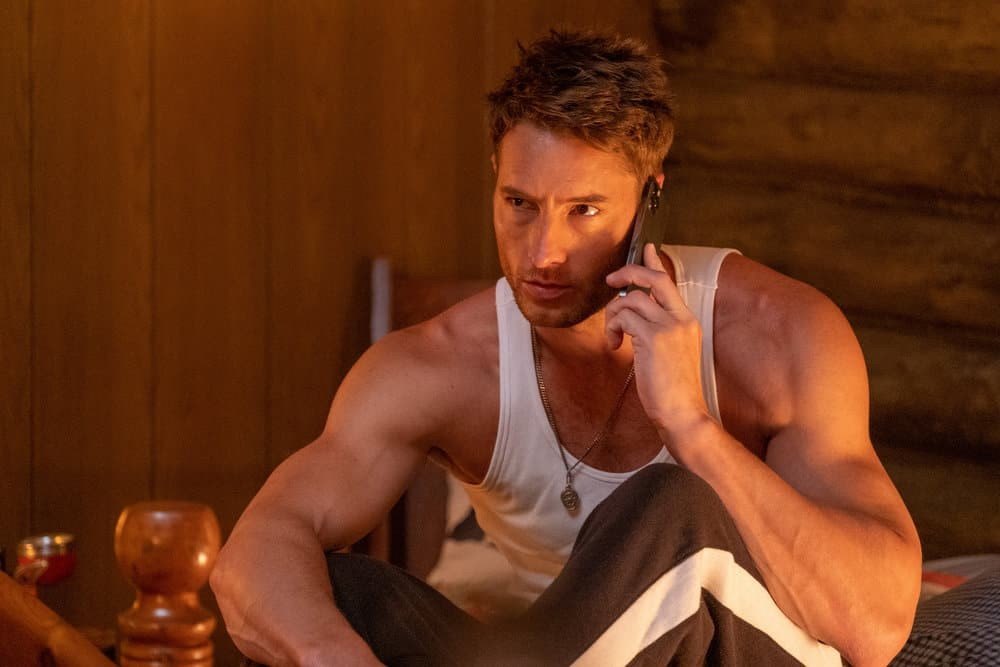 """THIS IS US Season 5 Episode 15-- """"Jerry 2.0"""", Episode 515 -- Pictured: Justin Hartley as Kevin -- (Photo by: Ron Batzdorff/NBC)"""