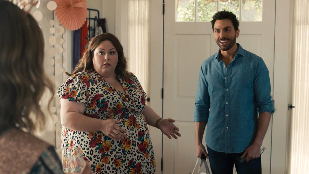 """THIS IS US Season 5 Episode 15-- """"Jerry 2.0"""" Episode 515 -- Pictured in this screengrab: (l-r) Chrissy Metz as Kate, Colt Prattes as Joe -- (Photo by: NBC)"""
