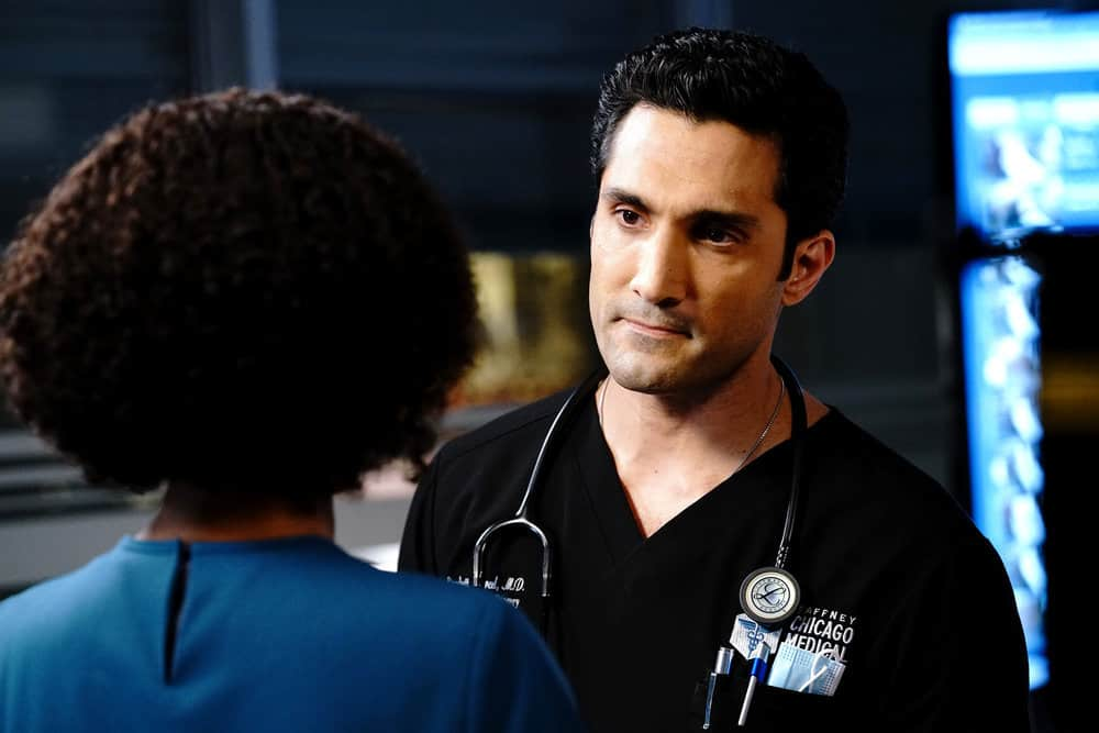 """CHICAGO MED Season 6 Episode 15 -- """"Stories, Secrets, Half Truth and Lies"""" Episode 615 -- Pictured: Dominic Rains as Crockett Marcel -- (Photo by: Elizabeth Sisson/NBC)"""