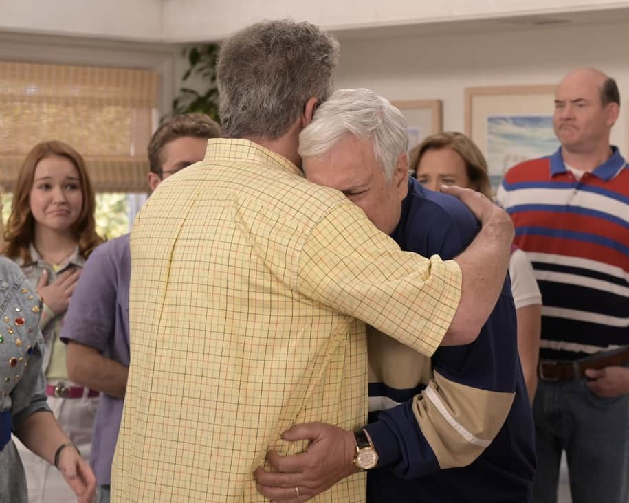 """THE GOLDBERGS Season 8 Episode 22 - """"The Proposal"""" – Geoff shares with the JTP that he is planning on asking Erica to marry him and gives them the engagement ring for safekeeping. Like any good romantic comedy, several miscommunications and misunderstandings between Geoff and Erica's friends and family result in a potential derailing of the proposal, forcing Adam to step in to keep the couple's special moment alive on the season finale of """"The Goldbergs,"""" WEDNESDAY, MAY 19 (8:00-8:30 p.m. EDT), on ABC. (ABC/Temma Hankin) THE GOLDBERGS"""