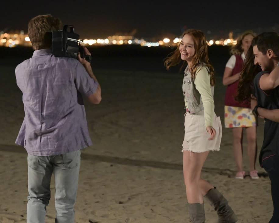 """THE GOLDBERGS Season 8 Episode 22 - """"The Proposal"""" – Geoff shares with the JTP that he is planning on asking Erica to marry him and gives them the engagement ring for safekeeping. Like any good romantic comedy, several miscommunications and misunderstandings between Geoff and Erica's friends and family result in a potential derailing of the proposal, forcing Adam to step in to keep the couple's special moment alive on the season finale of """"The Goldbergs,"""" WEDNESDAY, MAY 19 (8:00-8:30 p.m. EDT), on ABC. (ABC/Temma Hankin) SADIE STANLEY"""