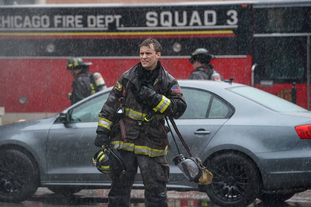 """CHICAGO FIRE Season 9 Episode 15 -- """"A White Knuckle Panic"""" Episode 915 -- Pictured: Jesse Spencer as Matthew Casey  -- (Photo by: Lori Allen/NBC)"""