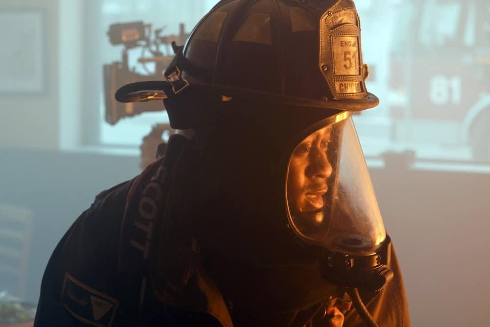 "CHICAGO FIRE Season 9 Episode 15-- ""A White Knuckle Panic"" Episode 915 -- Pictured: Daniel Kyri as Darren Ritter -- (Photo by: Lori Allen/NBC)"