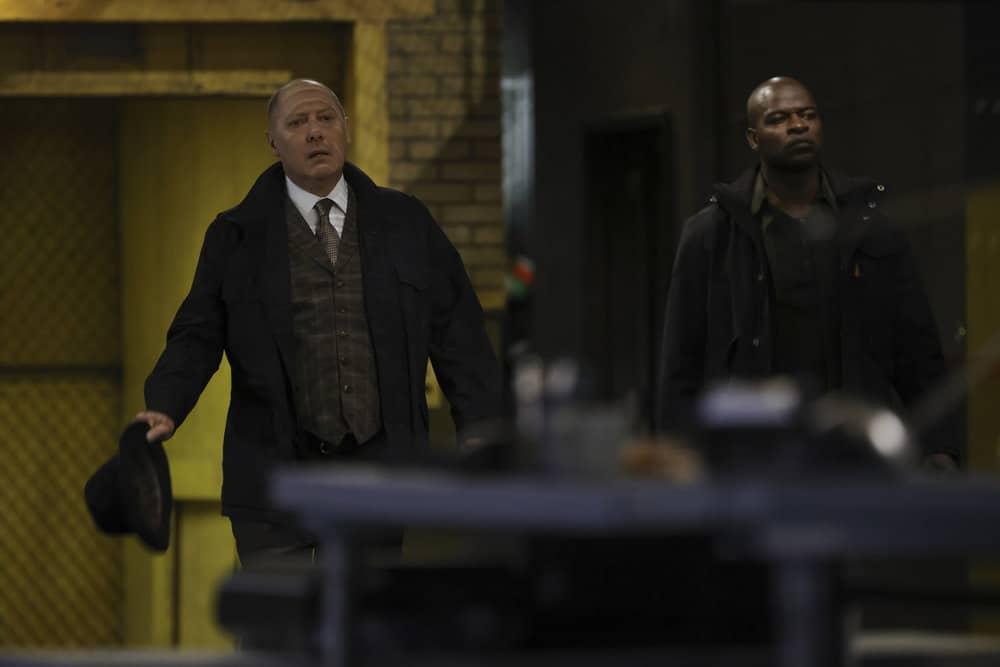 "THE BLACKLIST Season 8 Episode 18 -- ""The Protean (#36)"" Episode 818 -- Pictured: (l-r) James Spader as Raymond ""Red"" Reddington, Hisham Tawfiq as Dembe Zuma -- (Photo by: Will Hart/NBC)"