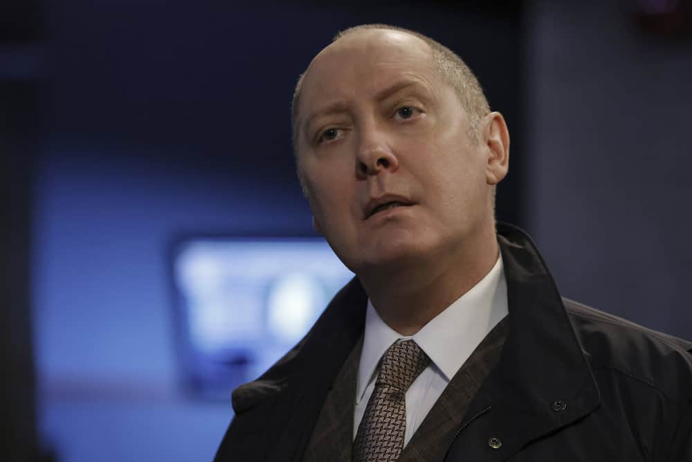 """THE BLACKLIST Season 8 Episode 18 -- """"The Protean (#36)"""" Episode 818 -- Pictured: James Spader as Raymond """"Red"""" Reddington -- (Photo by: Will Hart/NBC)"""