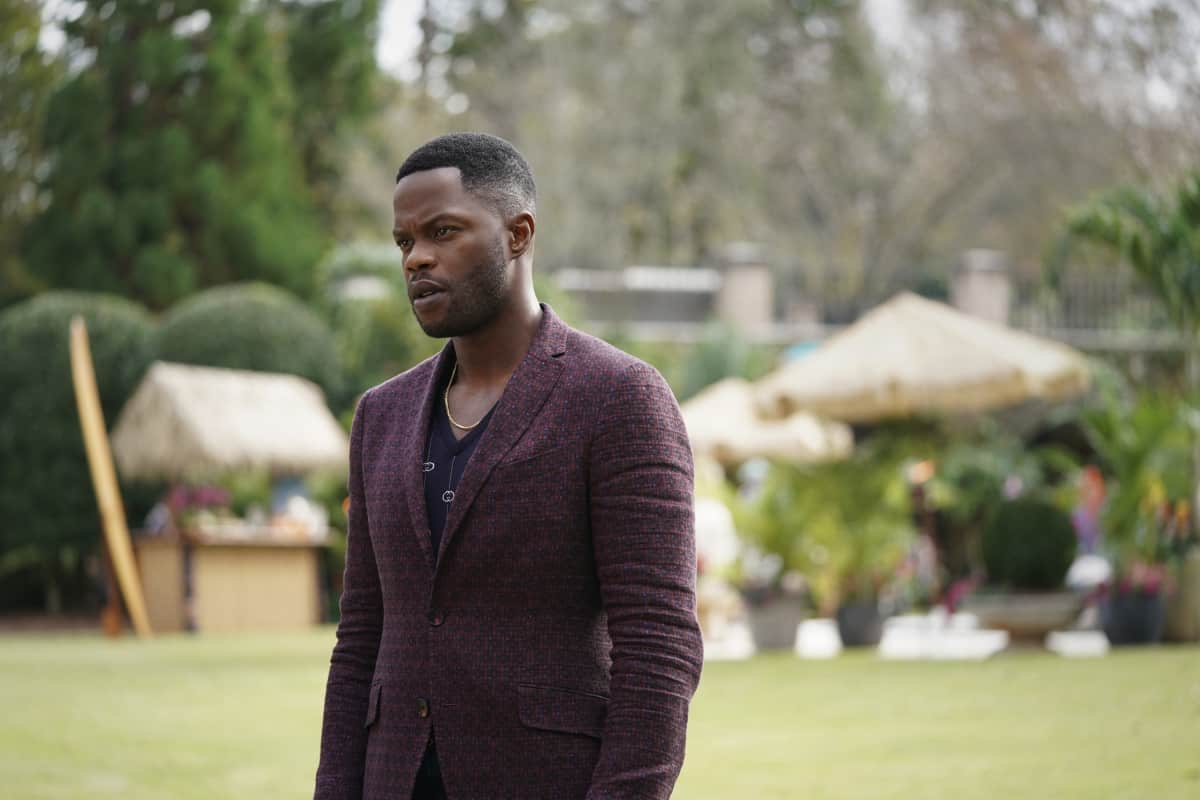 """DYNASTY Season 4 Episode 3 -- """"The Aftermath"""" -- Image Number: DYN403a_0316r.jpg -- Pictured: Sam Adegoke as Jeff   -- Photo: Eliza Morse/The CW -- © 2021 The CW Network, LLC. All Rights Reserved"""