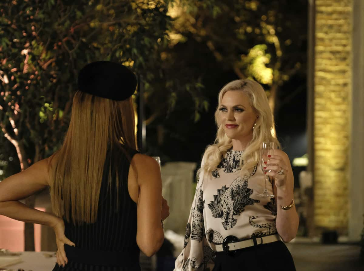 """DYNASTY Season 4 Episode 3 -- """"The Aftermath"""" -- Image Number: DYN403a_0020r.jpg -- Pictured (L-R): Michael Michele as Dominique and Elaine Hendrix as Alexis -- Photo: Eliza Morse/The CW -- © 2021 The CW Network, LLC. All Rights Reserved"""