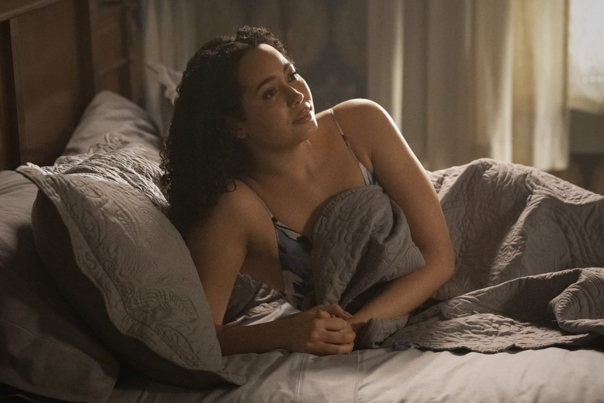 """CHARMED Season 3 Episode 13-- """"Chaos Theory"""" -- Image Number: CMD313B_0013r -- Pictured: Madeleine Mantock as Macy Vaughn -- Photo: Dean Buscher/The CW -- © 2021 The CW Network, LLC. All Rights Reserved."""