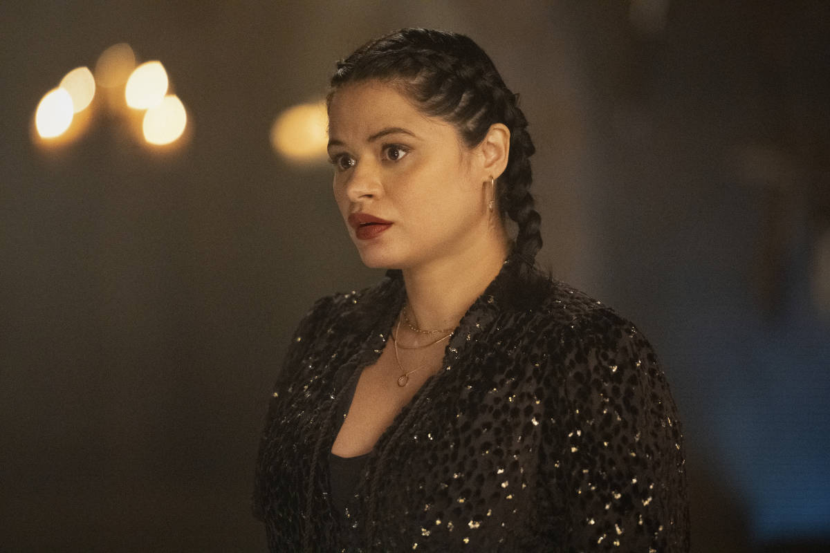 """CHARMED Season 3 Episode 13-- """"Chaos Theory"""" -- Image Number: CMD313A_0212r -- Pictured: Melonie Diaz as Mel Vera -- Photo: Dean Buscher/The CW -- © 2021 The CW Network, LLC. All Rights Reserved."""