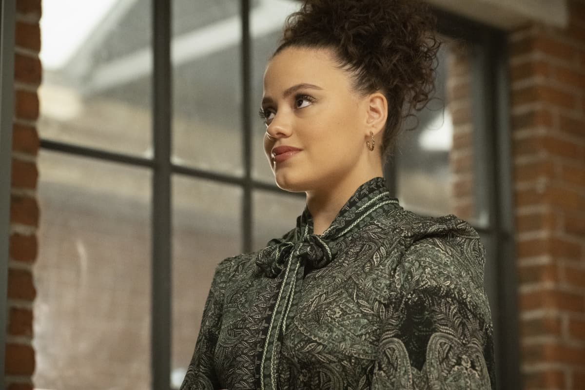 """CHARMED Season 3 Episode 13 -- """"Chaos Theory"""" -- Image Number: CMD313A_0065r -- Pictured: Sarah Jeffery as Maggie Vera -- Photo: Dean Buscher/The CW -- © 2021 The CW Network, LLC. All Rights Reserved."""