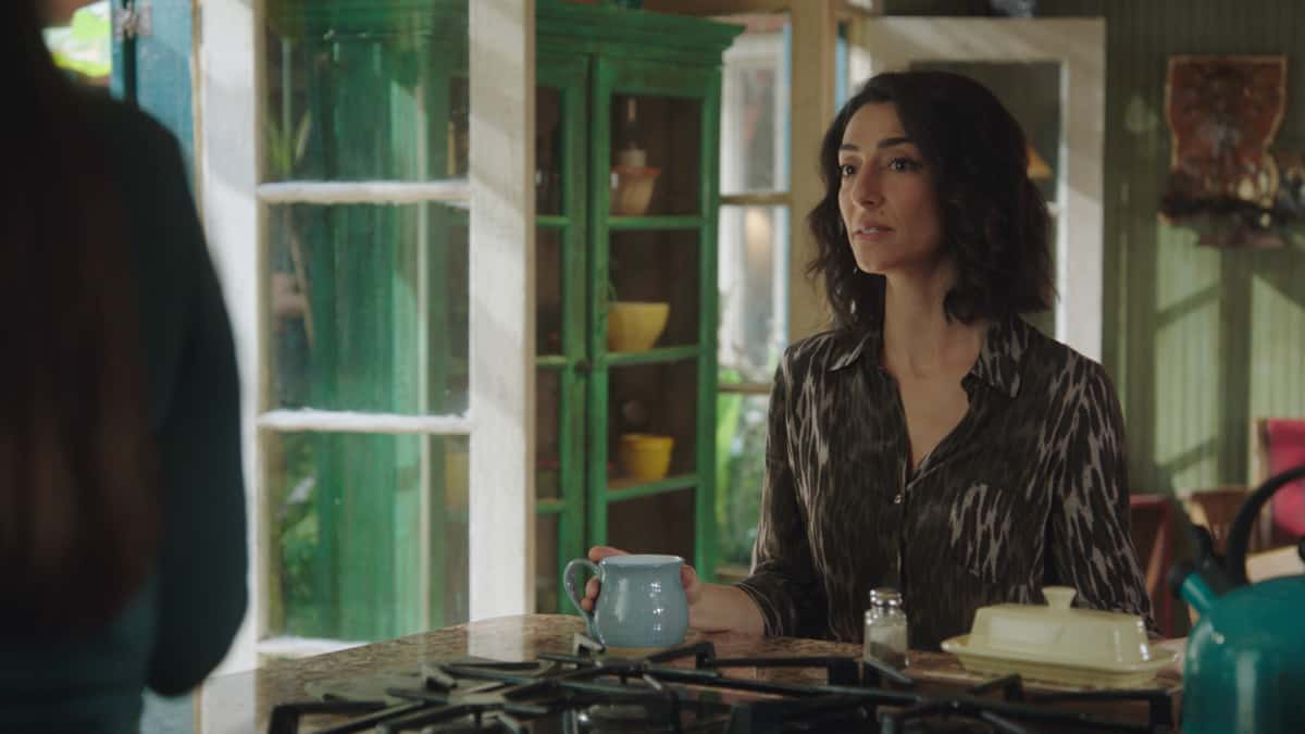 NCIS NEW ORLEANS Season 7 Episode 16 Laissez les Bons Temps Rouler On the eve to PrideÕs wedding to Rita, and Connor entering witness protection, Pride must find who attacked Jimmy (Jason Alan Carvell) and Connor (Drew Scheid), while also figuring out SashaÕs (Callie Thorne) ulterior motives regarding their son, on the series finale of ÒNCIS: NEW ORLEANS,Ó Sunday, May 23 (10:00-11:00 PM, ET/PT) on the CBS Television Network. Pictured: Necar Zadegan as Special Agent Hannah Khoury  Photo: Screen Grab/CBS ©2021 CBS Broadcasting, Inc. All Rights Reserved.