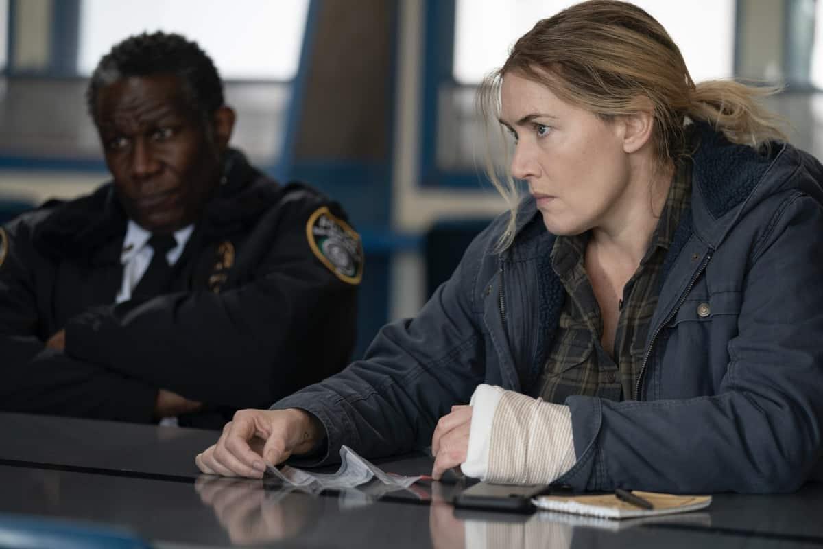 John Douglas, Kate Winslet MARE OF EASTTOWN Season 1 Episode 6 Photograph by Michele K. Short/HBO