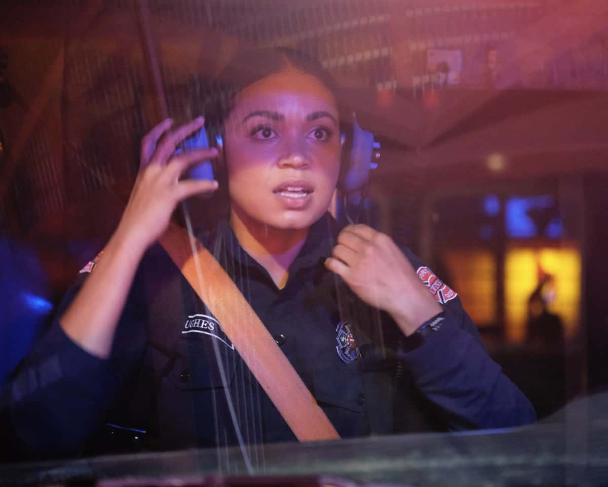 """STATION 19 Season 4 Episode 15 - """"Say Her Name"""" – When Vic helps her parents through a devastating loss, they have a long overdue conversation about the anguish of being Black in America on a new episode of """"Station 19,"""" THURSDAY, MAY 27 (8:00-9:00 p.m. EDT), on ABC. (ABC/Ron Batzdorff) BARRETT DOSS"""