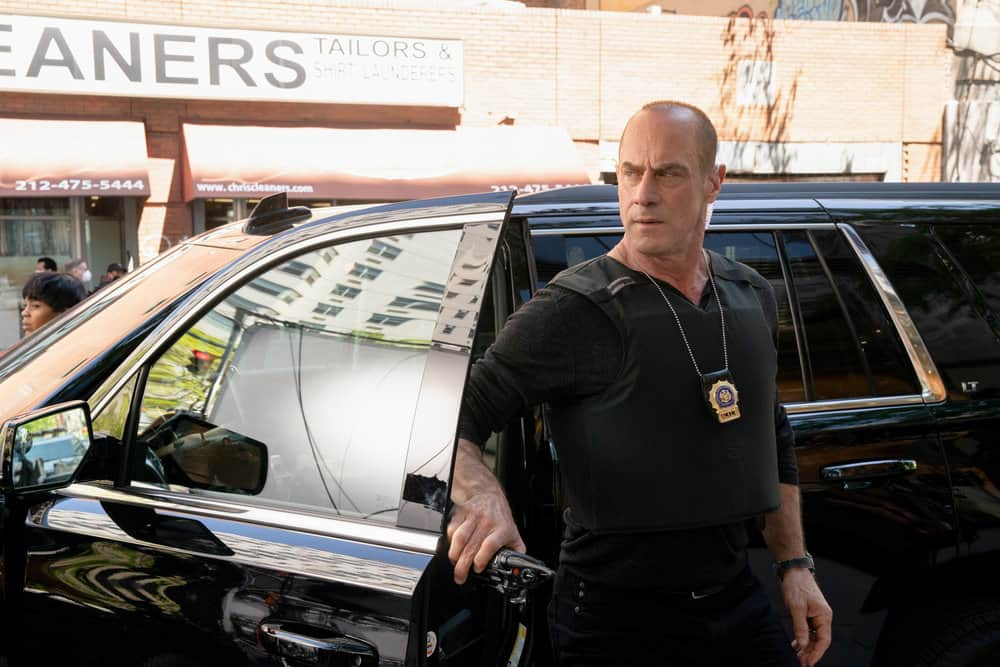 """LAW AND ORDER ORGANIZED CRIME Season 1 Episode 7 -- """"Everybody Takes A Beating Sometime"""" Episode 107 -- Pictured: Christopher Meloni as Detective Elliot Stabler -- (Photo by: Virginia Sherwood/NBC)"""