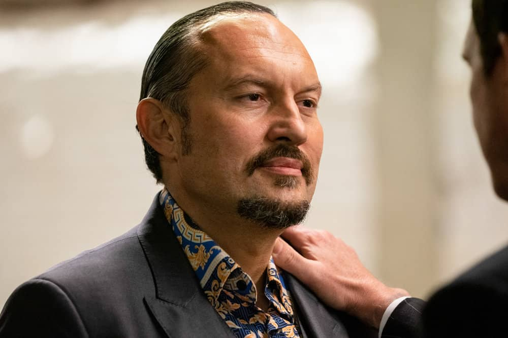 """LAW AND ORDER ORGANIZED CRIME Season 1 Episode 7 -- """"Everybody Takes A Beating Sometime"""" Episode 107 -- Pictured: Ivo Nandi as Gianluca Silvano -- (Photo by: Virginia Sherwood/NBC)"""
