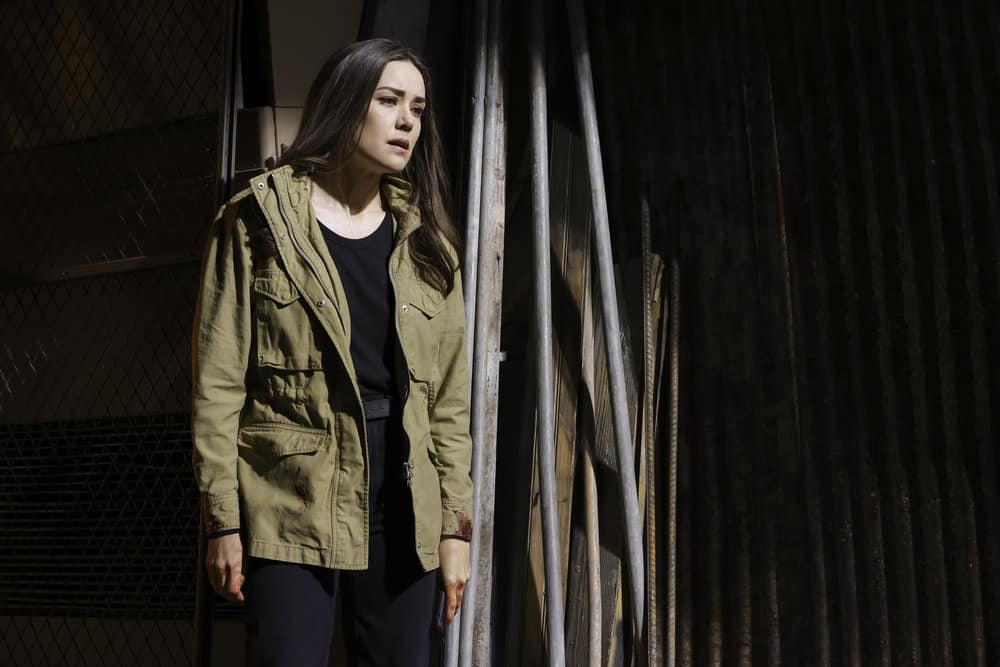 "THE BLACKLIST Season 8 Episode 19 -- ""Balthazar ""Bino"" Baker (#129)"" Episode 819 -- Pictured: Megan Boone as Liz Keen -- (Photo by: Will Hart/NBC)"