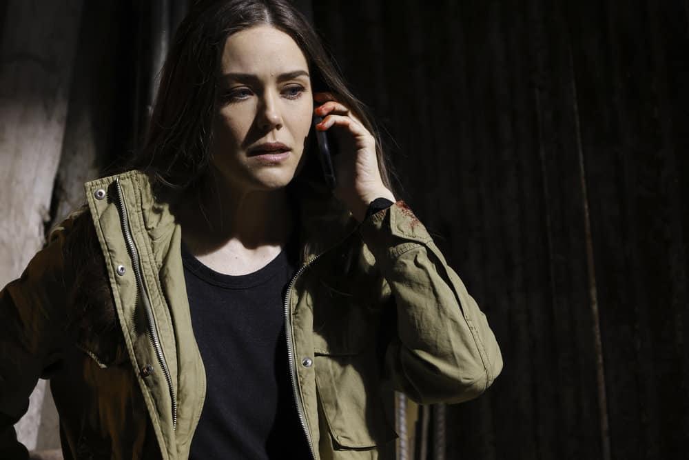 "THE BLACKLIST Season 8 Episode 19-- ""Balthazar ""Bino"" Baker (#129)"" Episode 819 -- Pictured: Megan Boone as Liz Keen -- (Photo by: Will Hart/NBC)"