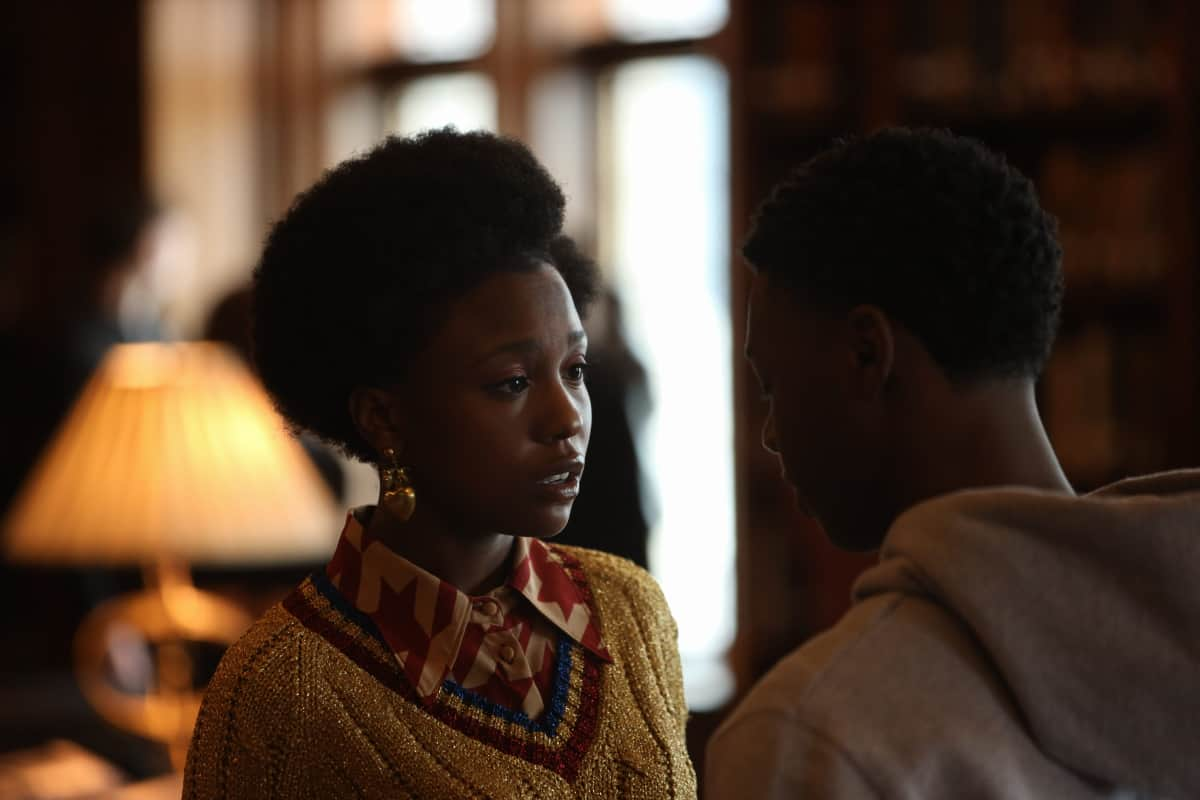"""THE CHI Season 4 Episode 2 (L-R): Judae'a Brown as Jemma and Alex Hibbert as Kevin Williams in THE CHI, """"Cooley High"""". Photo credit: Adrian Burrows/SHOWTIME."""