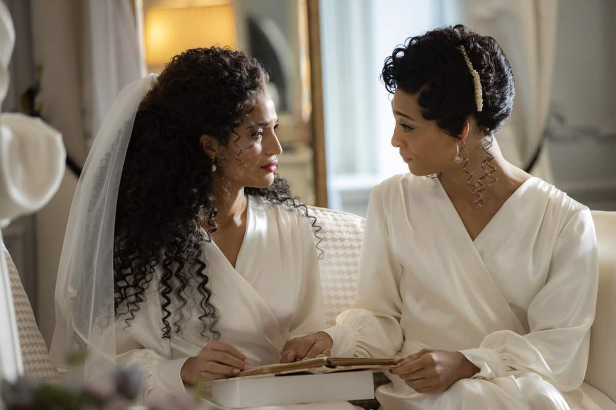 """POSE Season 3 Episode 6 -- """"Something Old, Something New"""" -- Season 3, Episode 6 (Airs May 30) Pictured: Indya Moore as Angel, Mj Rodriguez as Blanca. CR: Eric Liebowitz/FX"""