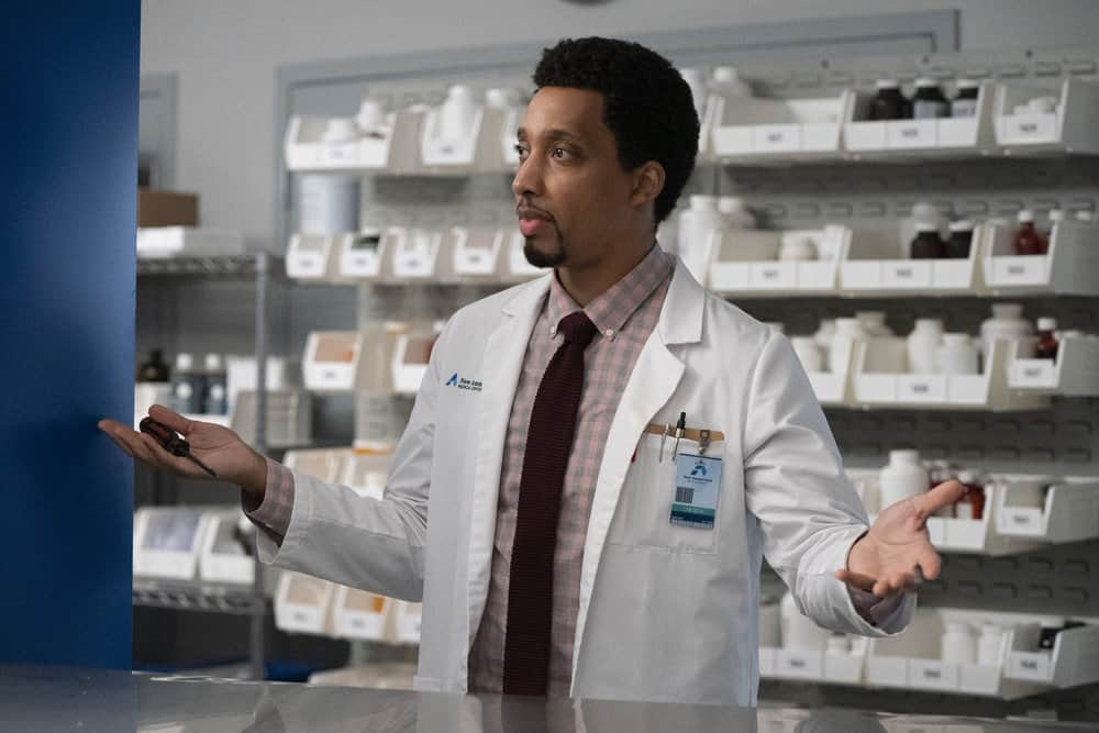 """NEW AMSTERDAM Season 3 Episode 13 -- """"Fight Time"""" Episode 313 -- Pictured: Eddie K. Robinson as Reed Lansby -- (Photo by: Virginia Sherwood/NBC)"""