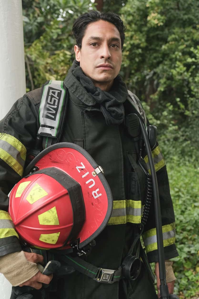"""STATION 19 Season 4 Episode 16 - """"Forever and Ever, Amen"""" – Maya addresses some unresolved family issues, and the crew takes matters into their own hands when faced with a life-or-death moment on scene. Meanwhile, Andy and Sullivan's marriage is put to the test on the season finale of """"Station 19,"""" THURSDAY, JUNE 3 (8:00-9:00 p.m. EDT), on ABC. (ABC/Ron Batzdorff) CARLOS MIRANDA"""