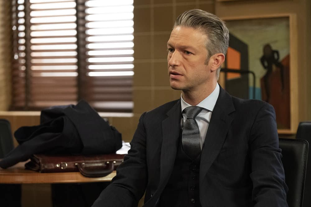 """LAW AND ORDER SVU Season 22 Episode 16 -- """"Wolves in Sheep's Clothing"""" Episode 22016 -- Pictured: Peter Scanavino as Assistant District Attorney Sonny Carisi -- (Photo by: Virginia Sherwood/NBC)"""